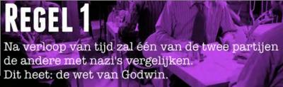 Na verloop van tijd zal één van de twee partijen de andere met nazi's vergelijken. Dit heet: de wet van Godwin.